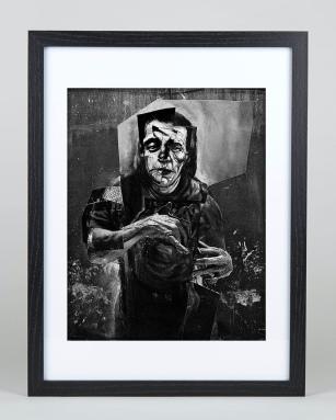 figure collage framed print